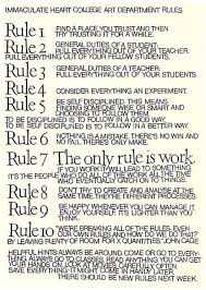 10 rules for students teachers and life by john cage and sister