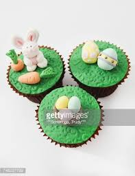 Easter Cupcake Icing Decorations by Easter Cupcakes With Fondant Icing Decorations Stock Photo Getty