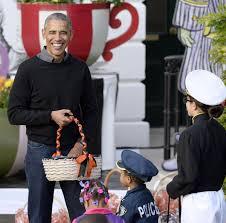 halloween president masks barack michelle obama dance to thriller for last halloween at