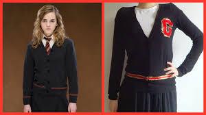 hermione granger halloween costumes diy do it yourself harry potter hogwarts sweater uniform for