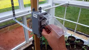 thermostat controlled exhaust fan installed thermostat controlled greenhouse fan system youtube