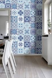 kitchen backsplash decals portuguese blue tile stickers tile decals kitchen backsplash fanabis
