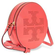tory burch perforated logo crossbody red ginger tory burch