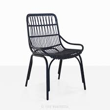 Outdoor Wicker Dining Chair Sydney Outdoor Wicker Dining Chair Black Teak Warehouse