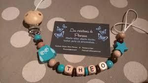perle en bois pour attache tetine attache tétine sucette personnalisé avec prénom hibou étoile
