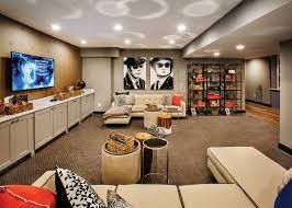 Basement Media Room Movie Themed Finished Basement Media Room Decor U0026 Ideas