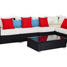 sofa rattan outsunny 13pc outdoor pe rattan wicker sectional sofa set