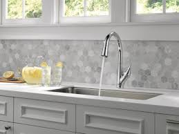 touch kitchen faucets delta esque pull touch single handle kitchen faucet with