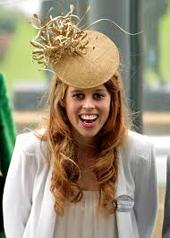 hats to the royal family princess beatrice auburn hair and