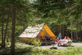 find a ready to camp tent camping sepaq