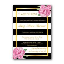graduation announcements invitations floral glam class of 2016