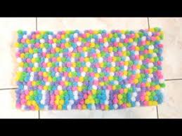 Pom Pom Rug Instructions How To Make A Pom Pom Rug Rebeccakelsey Com Youtube