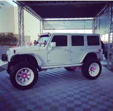 white and pink jeep pink jeep with pink rims 2015 jeep wrangler unlimited sahara
