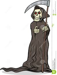 cute halloween skeleton death skeleton cartoon illustration royalty free stock photos