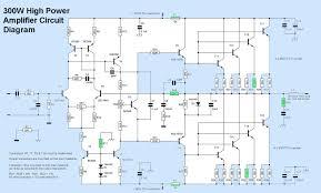 300w high power amplifier circuit electronic circuit