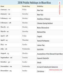 2017 mauritius holidays 2017 mauritius calendar