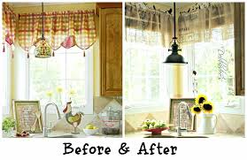 diy kitchen curtain ideas kitchen curtains valances patterns country living curtain