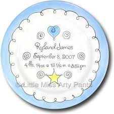 birth plates personalized miss arty personalized gifts sweet baby boy