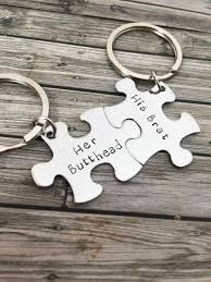 her butthead his brat couples keychains couples gift funny