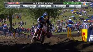 ama pro motocross 250 class moto 2 ama pro motocross 2017 redbud national youtube