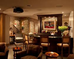 Beautiful Family Room Design With Home Bar Used Upholstered Bar - Beautiful family rooms