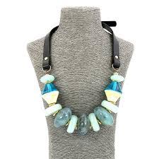 big statement necklace images Fashion jewellery big leather resin beaded statement necklace for JPG