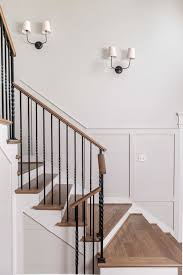 Wall Banister Staircase Photo Walls Country Entrance Foyer Country Living
