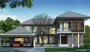 2 Story Modern House Plans Modern Style 2 Story Home Plans For Construction In Thai Living
