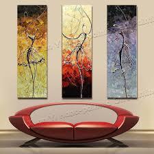 3 panel paintings 100 handmade high quality home decor ballet