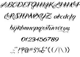tattoos lettering design letter template