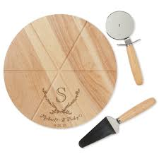 personalized pizza cutter happy personalized pizza board with two utensils