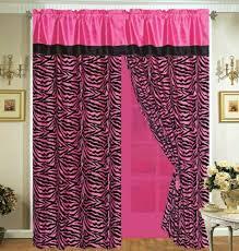 pink and zebra bedroom bedroom elegant rainbow zebra drape set curtain crystal curtains