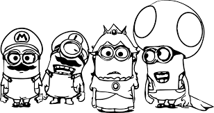 Coloring Pages Super Mario Minions Coloring Page Wecoloringpage by Coloring Pages