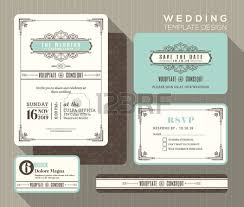 wedding backdrop design template vintage deco wedding invitation set design template place