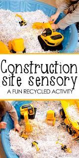 construction site sensory bin indoor activities construction