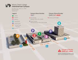 Fiu Campus Map Campus Map U0026 Directions Interamerican Campus Miami Dade College