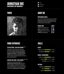 designer resume template 50 professional html resume templates web graphic design