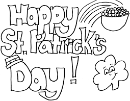st patricks coloring page cute cards st patricks day coloring