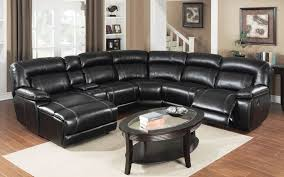 Seven Piece Reclining Sectional Sofa by E Motion Black Reclining Sectional Sofa With Chaise And Console