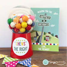 lds primary birthday gift chews the right gumball machine