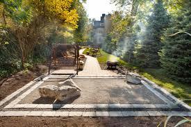exterior design backyard landscaping in cozy contemporary