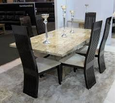 marble dining room table and chairs marble dining room table