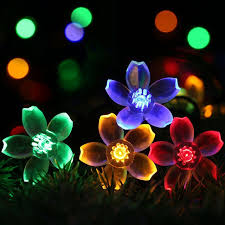 blossom solar string ip65 led festive lights waterproof 0 2w