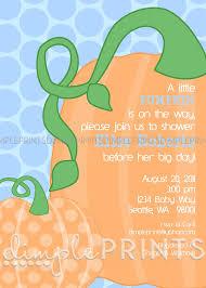 pumpkin baby shower or birthday printable invite dimple prints shop