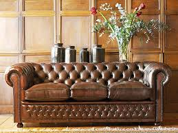 Chesterfield Sofa Used Setting Brown Leather Chesterfield Sofa Fabrizio Design