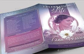 beautiful funeral programs 20 modern and professional free psd funeral program templates