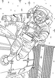 astronaut coloring page an astronaut floating outside the space station coloring page