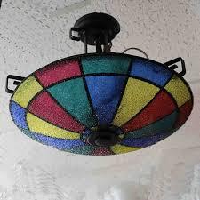multi colored light fixture light multi color ceiling light toronto antique vintage shop image