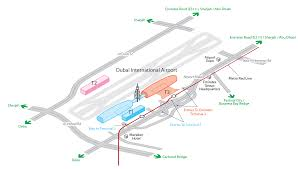 Airport Map Map Of Dubaï International Airport U0026 Terminals