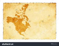 America Continent Map by Old Stain Mark North America Continent Stock Illustration